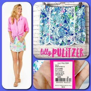 Lilly Pulitzer The Patty Skort in Coastal Blue